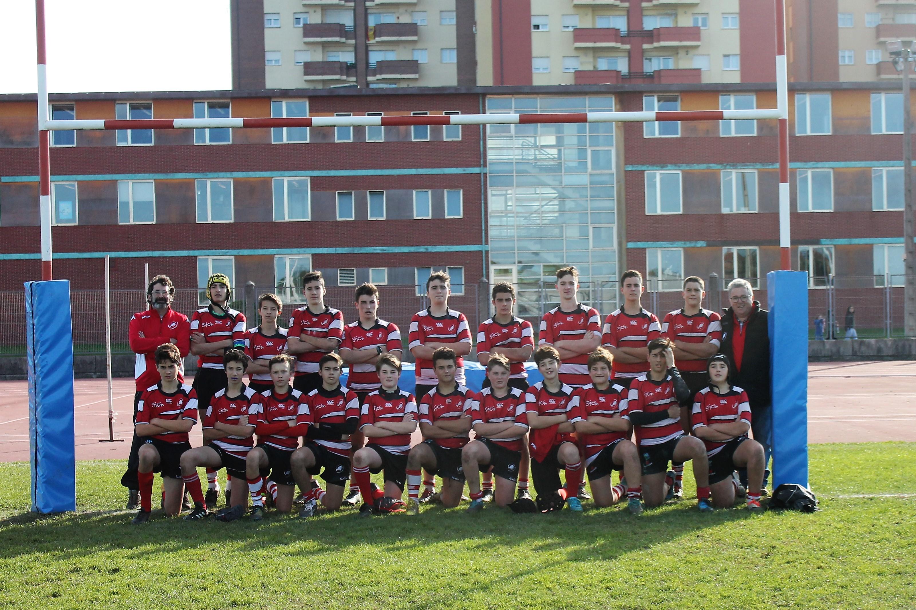 Equipo sub-16 del Gijón Rugby Club - Universidad de Oviedo
