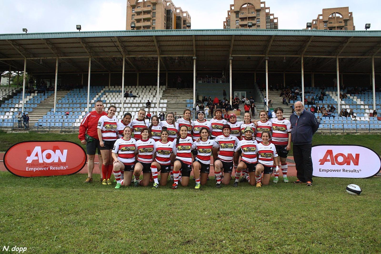 Equipo sénior femenino del Gijón Rugby Club - Universidad de Oviedo