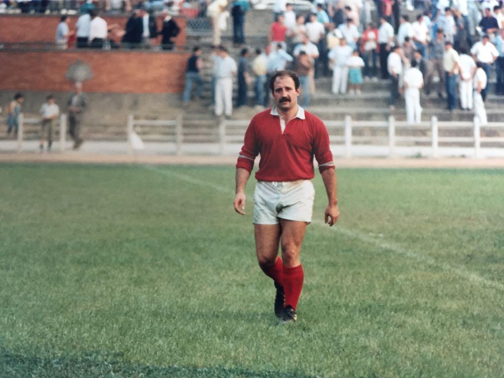 Uría en el partido Combinado Español - Zimbabue disputado en el campo de San Gregorio (Oviedo) el miércoles 18 de septiembre de 1985