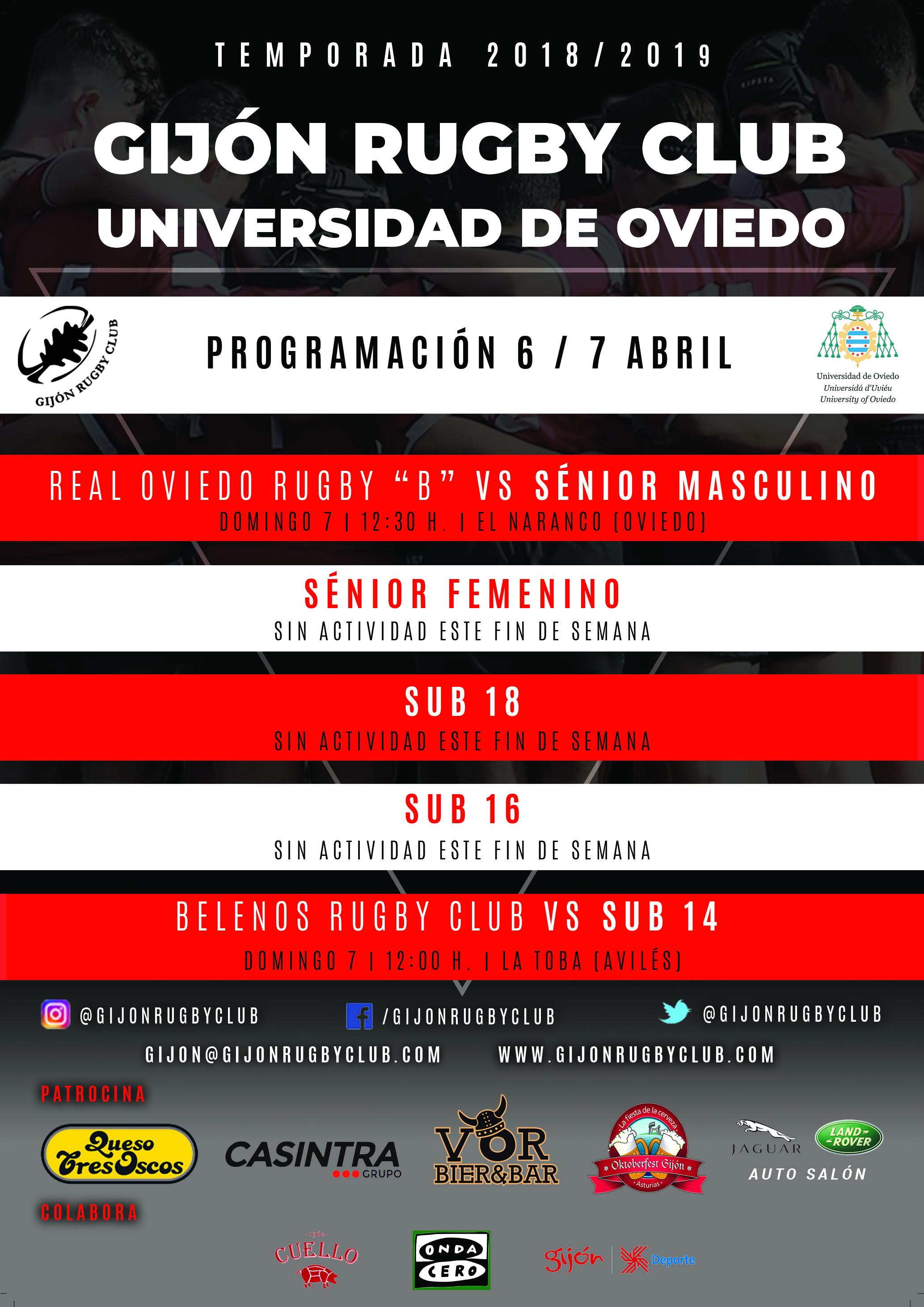 Calendario Laboral Oviedo 2019.Gijon Rugby Club Universidad De Oviedo